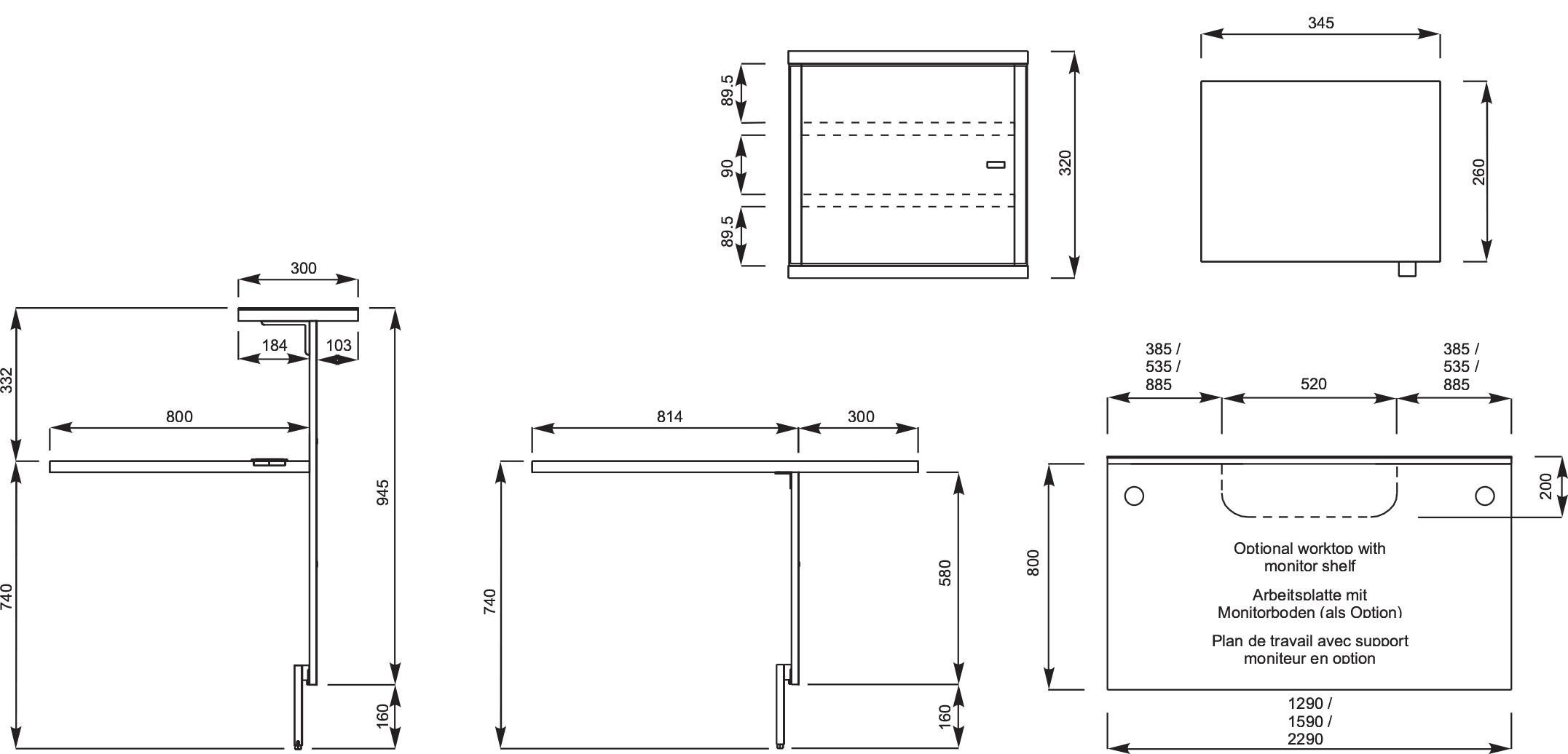 Reception Desk Dimensions Mm Hostgarcia